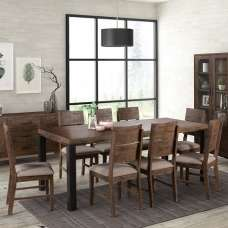 Sevilla Large Wooden Dining Table In Dark Pine Finish