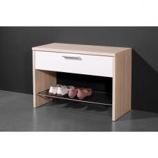 Carola Shoe Rack Bench In Core Ash White