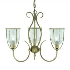 Silhouette 3 Light Ceiling Fitting In Antique Brass