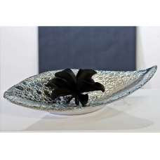 Sisley Decorative Bowl In Chrome Ceramic Silver