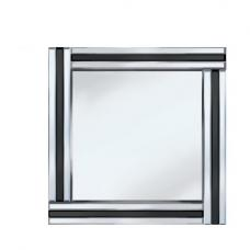 Black Stripe 60x60 Square Mirror