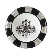 Soho Wall Mirror Round In Black And Silver