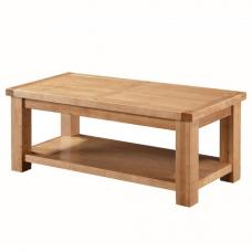 Solero Coffee Table In Ashwood With Undershelf