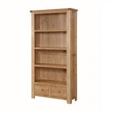 Solero High Bookcase In Ashwood With 2 Drawers