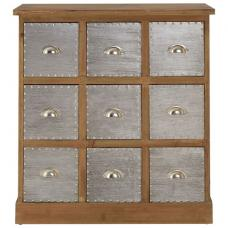 Sophia Wooden Storage Cabinet With 9 Drawers
