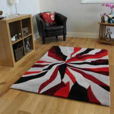 Infinite Splinter Red Rug