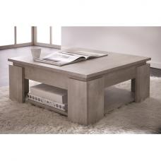 Portland Wooden Coffee Table Square In Champagne Oak