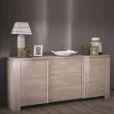 Portland Wooden Sideboard In Champagne Oak With 2 Doors