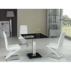 Patron Glass Dining Table With 4 Dining Chairs