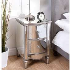 Stafford Mirrored Bedside Cabinet With 2 Drawers
