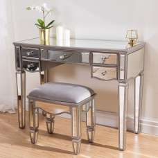 Stafford Mirrored Dressing Table And Stool