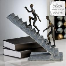 Staircase Sculpture In Poly Bronze Finish
