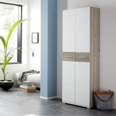 Staley Wooden Hallway Wardrobe In Nelson Oak And White
