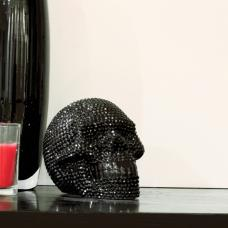 Star Studded Skull Black And Small Sculpture