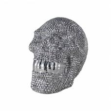Star Studded Skull Silver And Small Sculpture