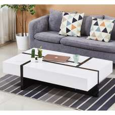 Storm Storage Coffee Table In White And Black High Gloss