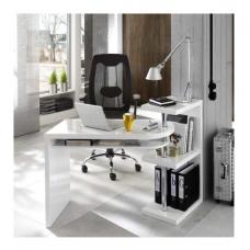 Sydney Rotating Office Desk in High Gloss White