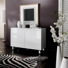 Sydney Small Sideboard In High Gloss White With 2 Doors