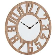 Symbia Wooden Wall Clock Round In Natural