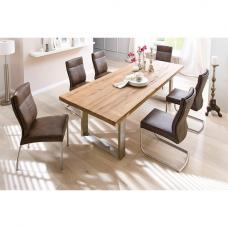 Capello Solid Oak 6 Seater Dining Table With Edward Chairs