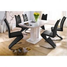 Genisimo High Gloss 4 Seater Dining Table With Amado Chairs