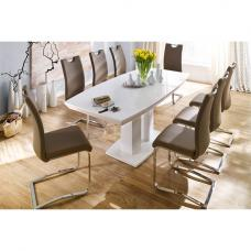 Genisimo High Gloss 6 Seater Dining Table With Koln Chairs