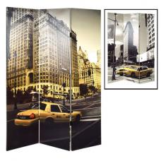 Yellow Cab Canvas Print Room Divider Screen