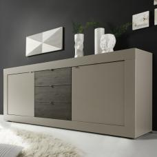 Taylor Modern Sideboard Large In Matt Beige And Wenge