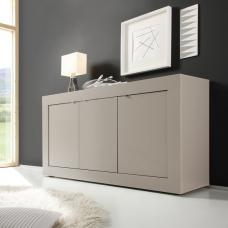 Taylor Contemporay Sideboard In Matt Beige With 3 Doors