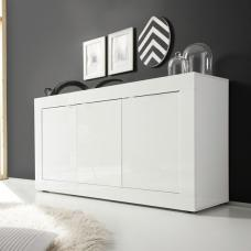 Taylor Contemporay Sideboard In White High Gloss With 3 Doors