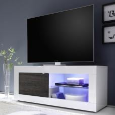 Taylor TV Stand In White High Gloss And Wenge With LED