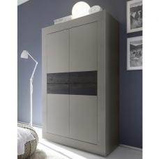 Taylor Modern Storage Cabinet In Matt Beige And Wenge With 4 Doo