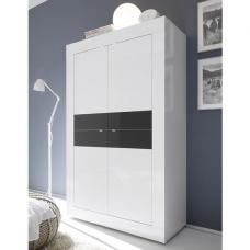 Taylor Storage Cabinet In White And Anthracite High Gloss