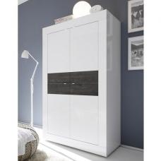 Taylor Storage Cabinet In White High Gloss And Wenge