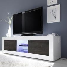 Taylor TV Stand Large In White High Gloss And Wenge With LED