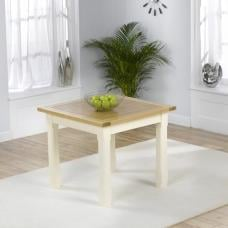 Telford Wooden Dining Table Square In Natural Ash And Cream Oak