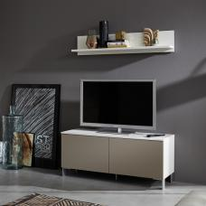 Terence Living Room Set 1 In White And Sand Front