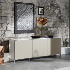 Terence Stylish Sideboard In White With Sand Fronts