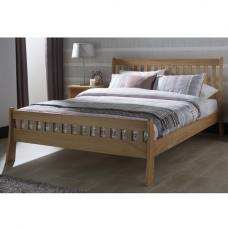 Tiffany Contemporary Wooden Bed In White Oak