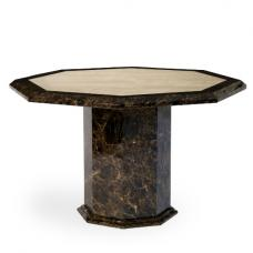 Topix Marble Effect Dining Table Octagonal In Brown And Cream