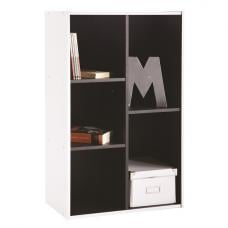 Trinity Bookcase Or Shelving Unit In White And Black