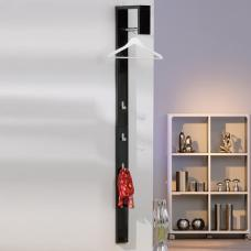 Tustin Coat Rack In Black High Gloss With 3 Hooks