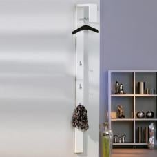 Tustin Coat Rack In White High Gloss With 3 Hooks