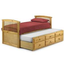 Uplander Wooden Single Bed In Antique Pine Lacquered