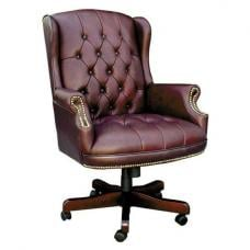 Chairman Brown Traditional Leather Executive Chair