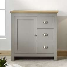 Valencia Wooden Storage Unit In Grey And Oak With 3 Drawers