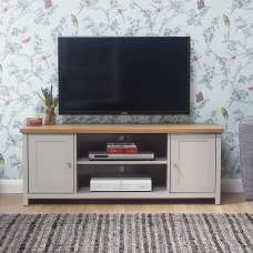 Valencia Wooden TV Stand Rectangular In Grey With 2 Doors