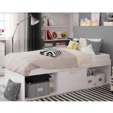Valerie Low Sleeper Cabin Storage Bed In White