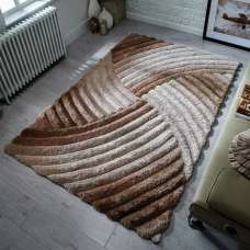 Verge Furrow Natural Rug