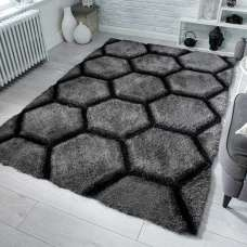 Verge Honeycomb Charcoal Rug